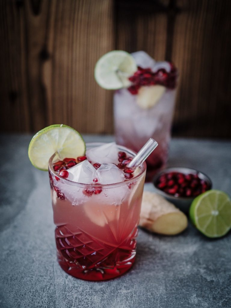 Alkoholfreier Cocktail - Ingwer Mocktail